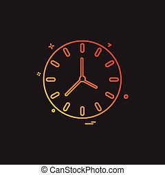clock time seconds icon vector design