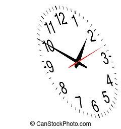 clock time vector art illustration on white background