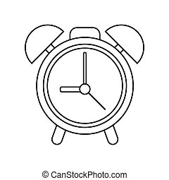 clock time watch alarm outline