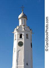 Clock tower 17 th c. (Novgorod Kremlin, Russia) - Clock ...