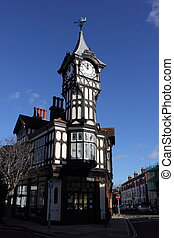 Clock tower - A clock tower from tudor times at portsmouth, ...