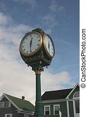 Clock Tower - A town clock tower.