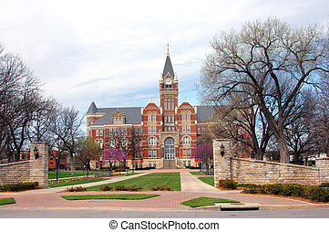 Clock Tower at Friends - Friends University in Wichita,...