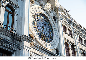 Clock Tower At San Marco Square In Venice