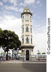 clock tower guayquil ecuador - moorish style clock tower...