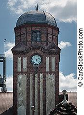 Clock Tower historic guildhall Coal Mine Bielszowice