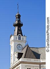 Clock tower.