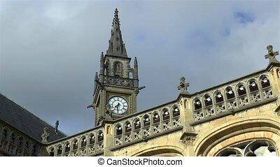 Clock tower in Ghent, Belgium.