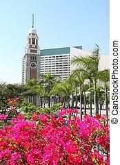Clock Tower in Hong Kong at spring time
