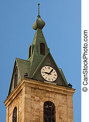 Clock tower in Jaffa, tel aviv, israel