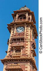 Clock tower in Jodhpur, Rajasthan, India