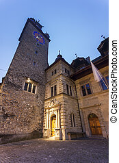Clock tower in Lucerne