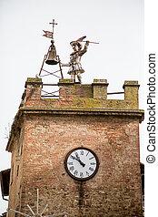 Clock-tower in Montepulciano, Tuscany