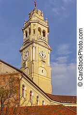 Clock tower in Oradea