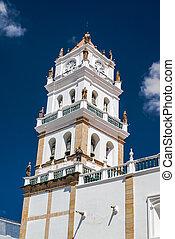Clock tower in Peru