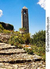 Clock tower in Pocitelj.