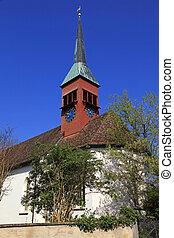 Clock tower in Schaffhausen, Switzerland - Clock tower...