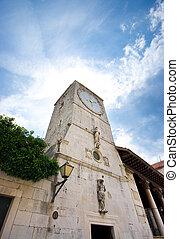 Clock tower in Trogir, Croatia