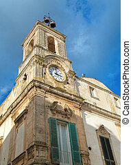 Clock tower. Martina Franca. Apulia.