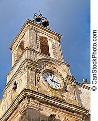 Clock tower. Martina Franca. Apulia.