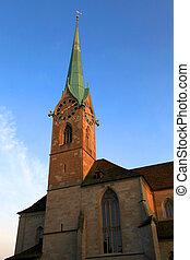 Fraumuenster church in Zurich, Switzerland.