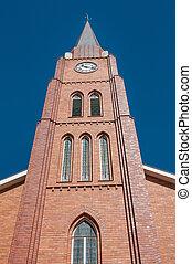 Clock tower of the Dutch Reformed Church in Boshof