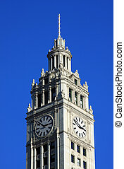 Clock tower of the Wrigley building