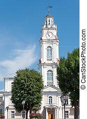 Vitebsk city hall - Clock tower of Vitebsk city hall, ...