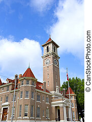 Clock Tower on Monroe County Courthouse