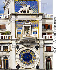 clock tower on the Piazza San Marco in Venice