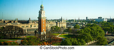 Clock tower - High angle view of Torre Monumental, Plaza...