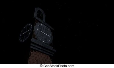 Clock tower time lapse