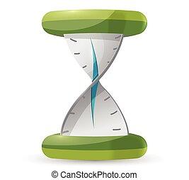 Clock Twist Time Symbol Icon Vector