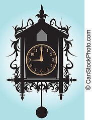 Clock. - A cuckoo clock.
