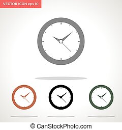 clock vector icon isolated on white background