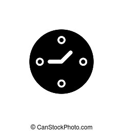 Clock vector icon. Line style on white background