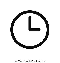 Clock vector icon, time symbol in modern design style for web site and mobile app