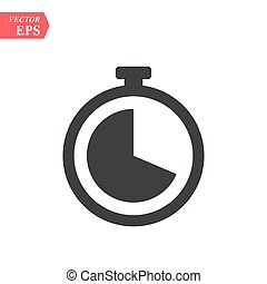 Clock vector icon. Time vector illustration. Trendy Flat style for graphic design, Web site, UI