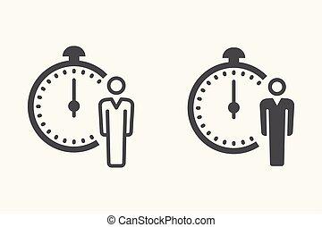Clock vector icon.