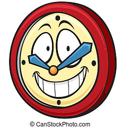 Clock - Vector illustration of Cartoon clock
