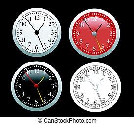 Clock vector illustration set