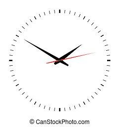 clock vector on white