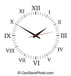 clock vector on white background