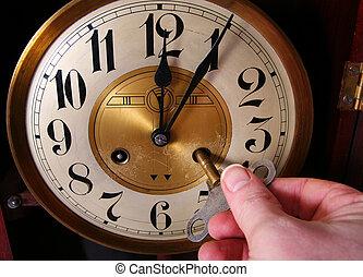 clock vintage midnight