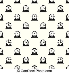 Clock vintage pattern seamless vector