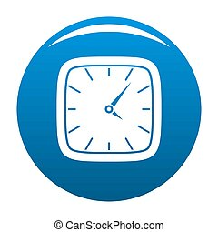 Clock wall icon blue
