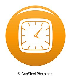 Clock wall icon orange