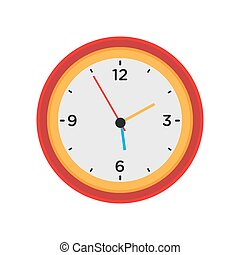 Clock wall vector round time isolated white icon. Watch hour illustration circle minute black classic office pointer