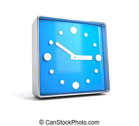 Clock - web button isolated on white background