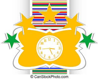 Clock web icon button, time concept